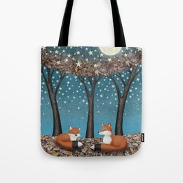 starlit foxes Tote Bag
