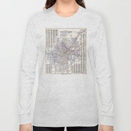 Los Angeles - Map of the railway systems - 1906 Long Sleeve T-shirt