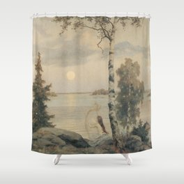 Summer Night Tunes By Frederik Ahlsted Shower Curtain