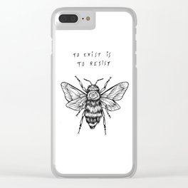 to exist is to resist Clear iPhone Case
