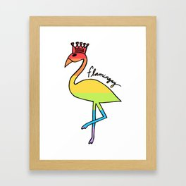 Flamingay Pastel Framed Art Print