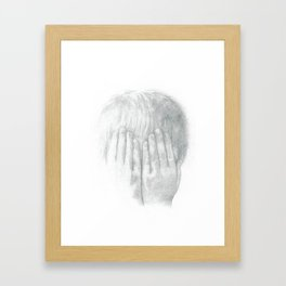 You Can't See Me Framed Art Print