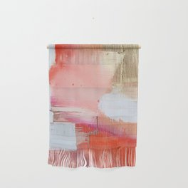 Moving Mountains: a minimal, abstract piece in reds and gold by Alyssa Hamilton Art Wall Hanging