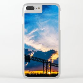 Austin Sunset Clear iPhone Case