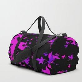 Fall Leaves in Purple Duffle Bag