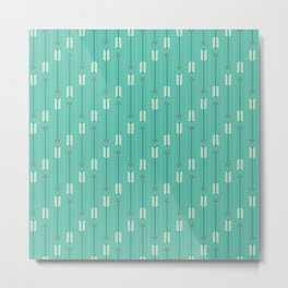 Arrows_Turquoise Metal Print