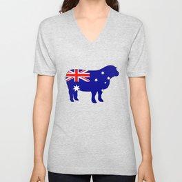 Australian Flag - Sheep Unisex V-Neck