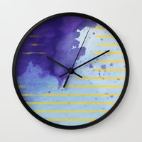 rorschach Wall Clocks featuring Rorschach by Sonia Garcia