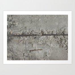 Rusty Iron Bar and Concrete Art Print