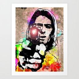 K. Cobain Grunge Art Print