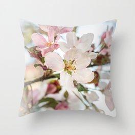 Apple bloom Throw Pillow