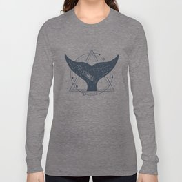 Tail Of A Whale. Geometric Style Long Sleeve T-shirt