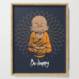 Be Happy Little Buddha Serving Tray