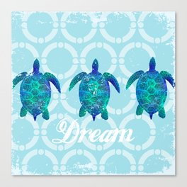 Turtle dream dreamer summer, illustration original painting print Canvas Print