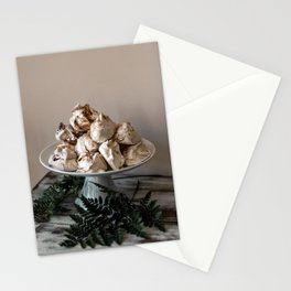 Sweet Meringue Cookies & Ferns Stationery Cards