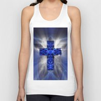 cross Tank Tops featuring Cross by Mr D's Abstract Adventures