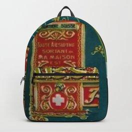 Vintage Absinthe Liquor Aperitif A. Junod Pontarier Advertising Poster Backpack