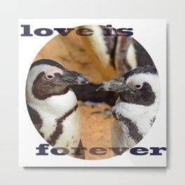 "lovers penguins (""love is forever"") Metal Print"
