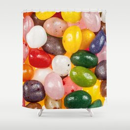 Cool colorful sweet Easter Jelly Beans Candy Shower Curtain