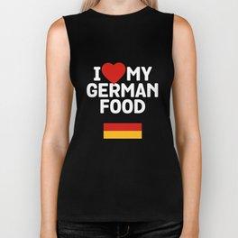 I Love My German Food Biker Tank