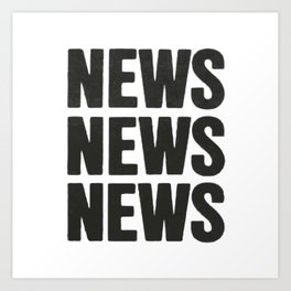 News News News Art Print