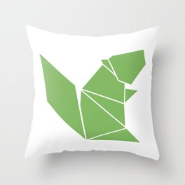 Squirrel origami Throw Pillow