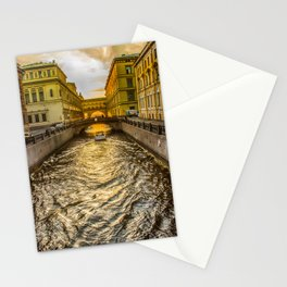Swan Canal in St. Petersburg Stationery Cards