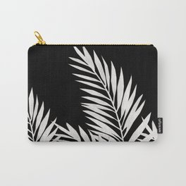 Palm Leaves White Carry-All Pouch