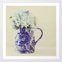 hydrangea Art Prints featuring Hydrangea by Beverly LeFevre