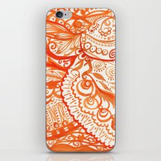 orange brushstroke iPhone & iPod Skin