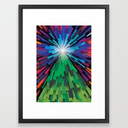Light the tree Framed Art Print