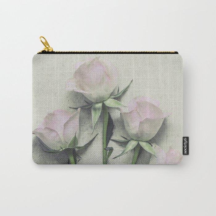 Delicate Roses Carry-All Pouch