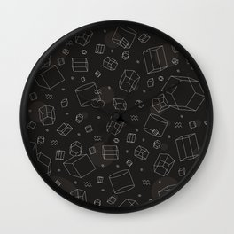 Third Dimensional Pattern: Dark Wall Clock