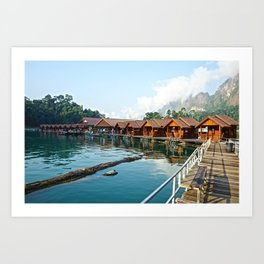 Bungalows Art Print