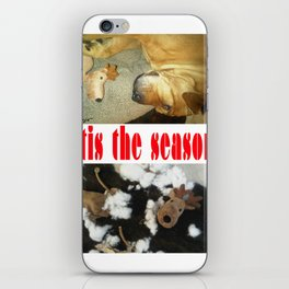 """ 'tis the season "" from the photo series""My dog, PLaY-DoH"" iPhone Skin"