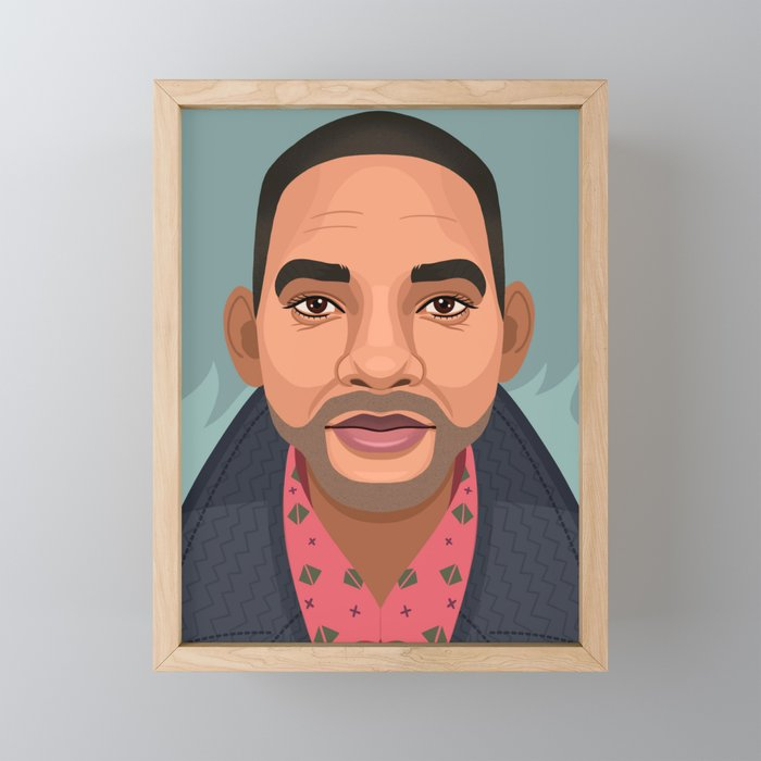 Will Smith Framed Mini Art Print