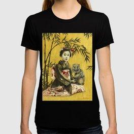 Vintage Geisha And Demon T-shirt