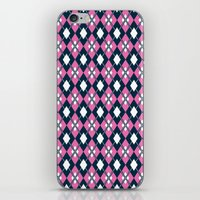 preppy iPhone & iPod Skins featuring Preppy Argyle by markmurphycreative