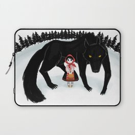 Little Red Riding Hood and the Big Bad Wolf Laptop Sleeve