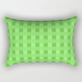 Lime Green Retro Squares Rectangular Pillow