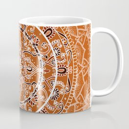 Detailed Burnt Orange Mandala Coffee Mug