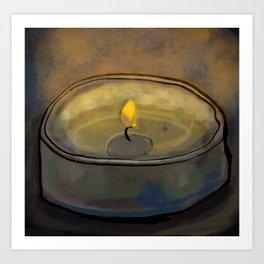 Tea Light Art Print