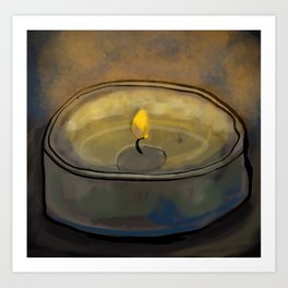 Tea Light Art Print