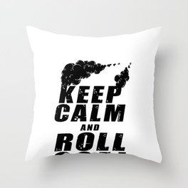 Diesel Engine Mechanic Keep Calm And Roll Coal Throw Pillow
