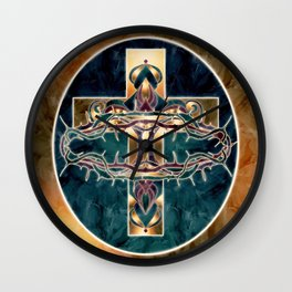 Blessings by Loz Wall Clock