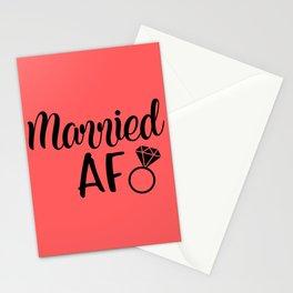 Married AF - Coral Stationery Cards