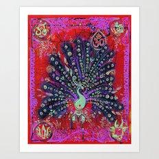 Royal Peacock Art Print