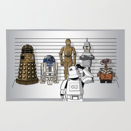 Star Wars Droid Lineup Rug