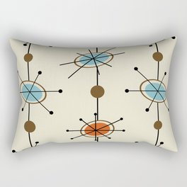 Atomic Era Satellites Rectangular Pillow