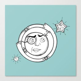 Motor Moon Canvas Print